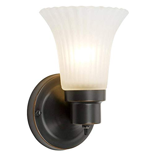 Design House 505115 1 Light Wall Light, Oil Rubbed Bronze (Wall Lighting)
