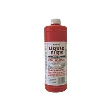 amazing liquid fire pipe u0026 drain opener hair clog remover 1 quart 32