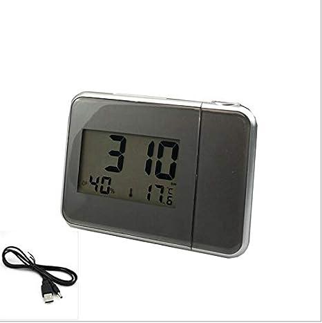Despertador proyector, Reloj Despertador Digital con Pantalla LCD Grande, Reloj Digital con alarmas Dobles 013: Amazon.es: Videojuegos