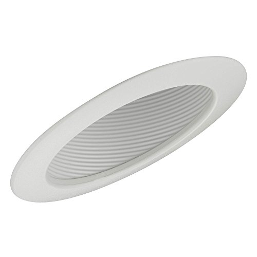 6-Inch White Recessed Sloped Ceiling Baffle Trim -