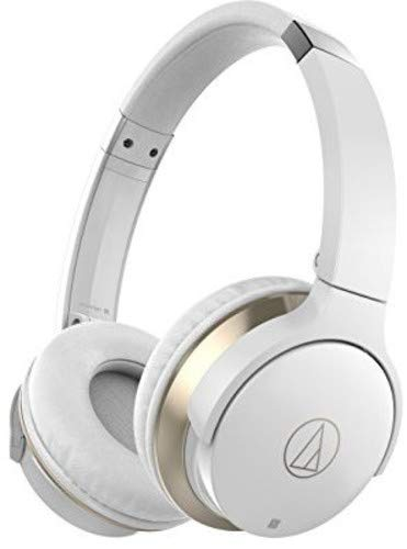Audio-Technica ATH-AR3BTBK SonicFuel Bluetooth Wireless On-Ear Headphones with Mic & Control, White
