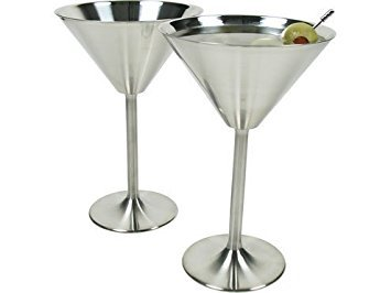 Stainless Steel Martini Glasses Set of 6
