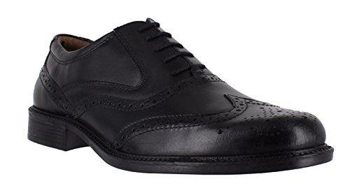 Oaktrak Henry CABALLEROS elegante formal con cordones piel negra Zapatos Oxford