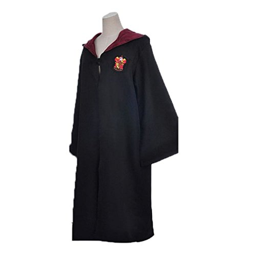 FunnySun Harry Potter Adult Cloak Party Cosplay Costume Hogwarts, Gryffindor, Large (Hufflepuff Robes)