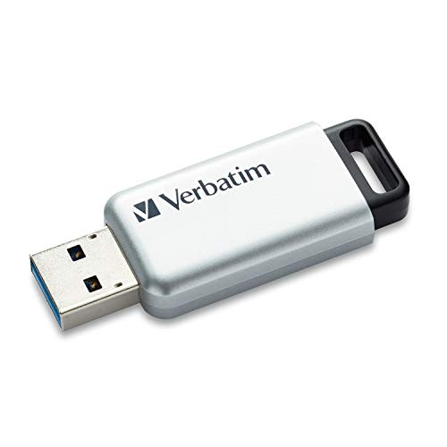 Verbatim 64GB Store'n' Go Secure Pro USB 3.0 Flash Drive with AES 256 Hardware Encryption - Silver
