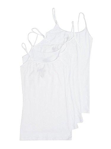 4 Pack Active Basic Women's Basic Tank Tops,White,Small