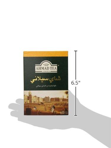 Ahmad Tea of London : Ceylon Tea (loose tea) 500ge/17.6 oz. 4 Beautiful golden color and memorable character Try serving Ahmad Ceylon black tea with milk or a slice of lemon Ahmad Tea is a member of the United Kingdom Tea Council