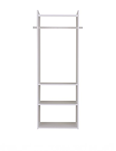 Easy Track Hanging Tower Kit Closet Storage, 72 inch, White