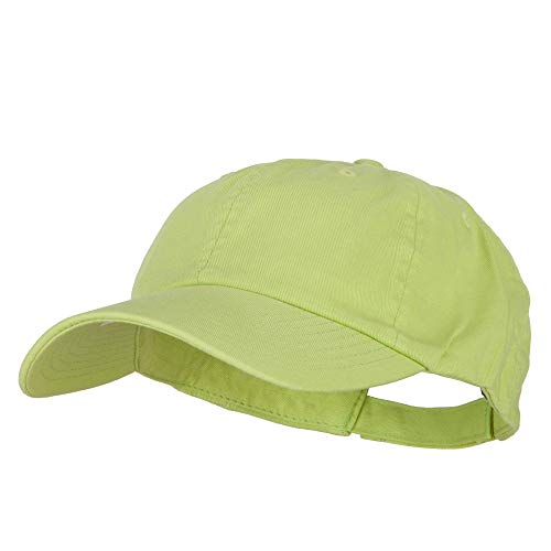 MG Low Profile Dyed Cotton Twill Cap - Apple Green OSFM