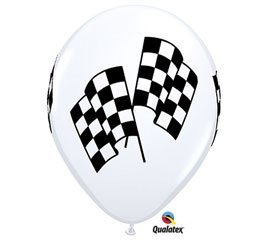 Indy Racing Flags - Racing Flags Nascar Indy Race Qualatex 11 Latex Victory Party Balloons 12pk by Burton & Burton
