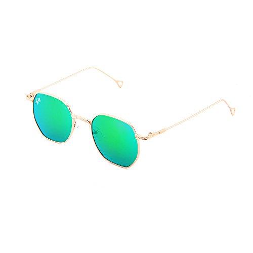 Bronce BASQUIAT sol hombre Verde espejo Gafas TWIG de mujer R4OAT