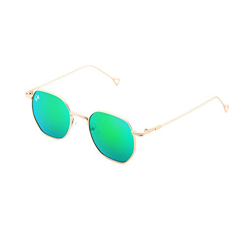Verde mujer sol espejo BASQUIAT Gafas de TWIG Bronce hombre Ax7q8Tn