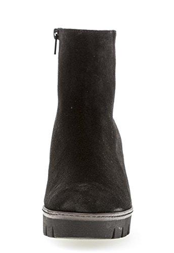 Wedge Ankle Heel Chunky Womens Gabor Black Boots Utopia Cognac qxn6vTwt