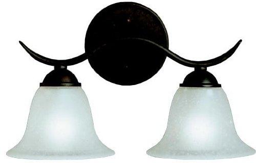 Kichler 6322TZ Dover Bath 2-Light, Tannery Bronze