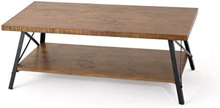 Christopher Knight Home Camaran Industrial Faux Wood Coffee Table