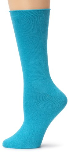 Ozone Women's Mid Zone Sock 2 Pack,Turquoise,