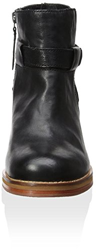 Shoes Boot J Women's with Bays Heel Water Black Strap Ankle Block qZnFndHP