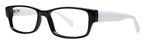 Chill Unisex Youth Eyeglasses - Modern Collection Frames - Black/White 52-17-140