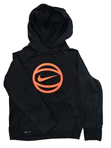 Nike Boy Youth Hoodie Sweatshirt Basketball Black AA1562-010 (Small)