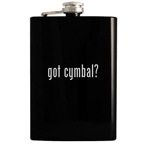 got cymbal? - 8oz Hip Drinking Alcohol Flask, Black ()