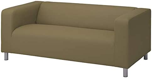 IKEA KLIPPAN Cover for Loveseat Couch 2 Seat Sofa Vissle Yellow Green Slipcover