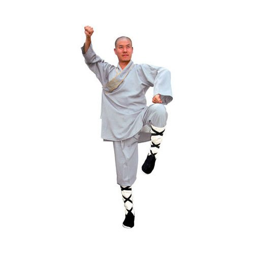 Tiger Claw Shaolin Monk Robe - Gray - Large