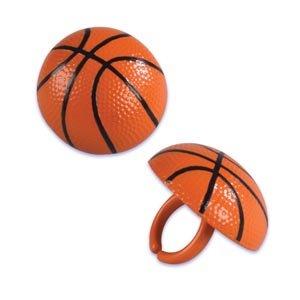 Basketball Cupcake Rings - 12 ct