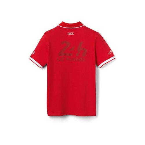 Audi 3131502802 - Polo de manga corta para hombre Le Mans, rojo ...