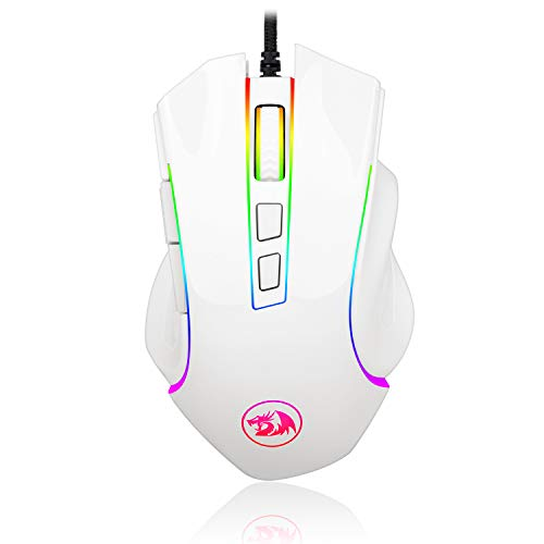 Redragon M602 RGB Wired Gaming Mouse RGB Spectrum Backlit Ergonomic Mouse Griffin Programmable with 7 Backlight Modes up to 7200 DPI for Windows PC Gamers