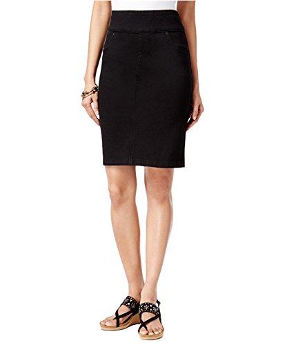 Style & Co. Petite Pull-On Pencil Skirt (Black Rinse, Medium Petite)