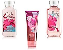 (Bundle Pack Bath Body Works PINK CHIFFON Body Lotion, Body Cream & Shower Gel TRIO Pack)