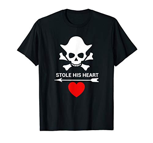 Funny Valentine's Day Couples Costume Shirt Pirate Men Women -