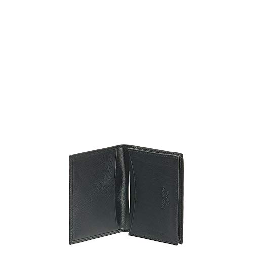 Bosca Nappa Vitello Full Gusset 2 Pocket Card Case with ID - Black -