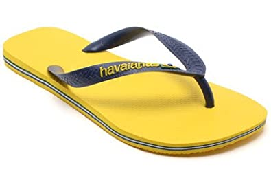 02b917046072 Image Unavailable. Image not available for. Colour  Womens Havaianas Brasil  Logo Citrus Yellow Flip Flops Sandals