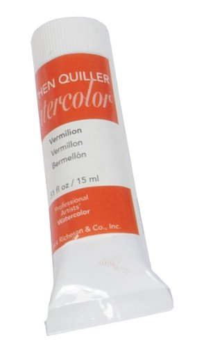 Stephen Quiller Watercolor - Jack Richeson Stephen Quiller 15-Ml Watercolor Tube, Vermilion
