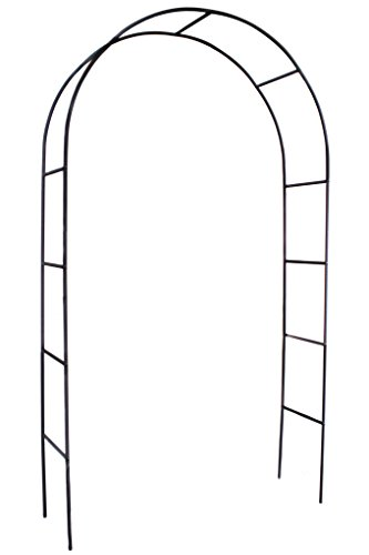 1.Go Steel Garden Arch, 7'8 High x 4'5 Wide, Garden Arbor for Various Climbing Plant, Outdoor Garden Lawn Backyard ()