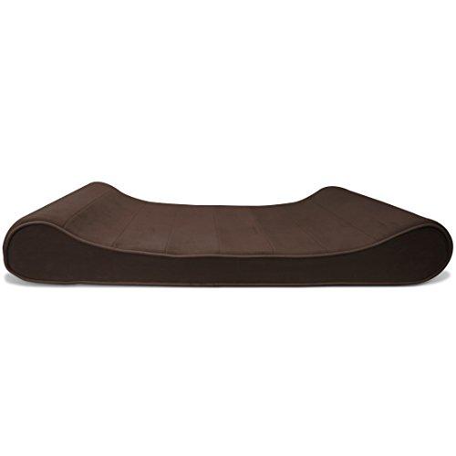 FurHaven 31339391 Micro Velvet Luxe Lounger Pet Bed, Espresso, Medium
