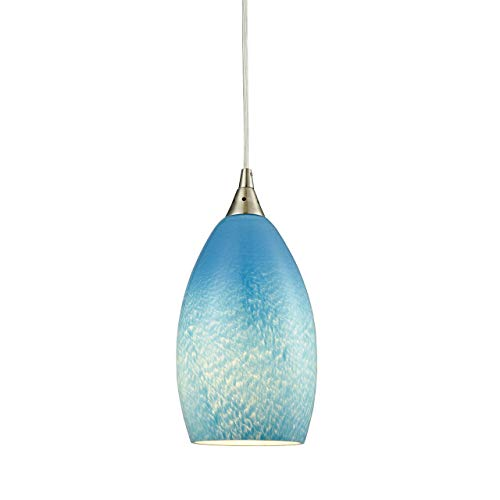 Teal Blue Pendant Light in US - 1