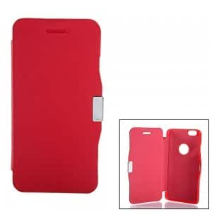 """4.7"""" Wiredrawing Magnetic Clasp Leather Protective Case for iPhone 6 Red"""