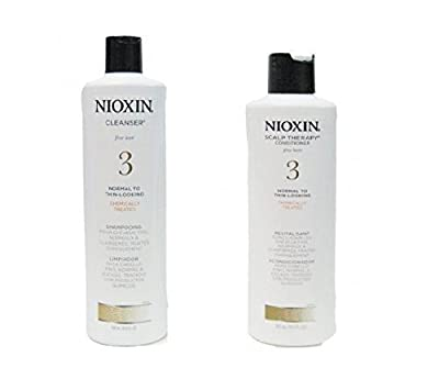 System 3 Cleanser & Scalp Therapy Conditioner Duo Nioxin Shampoo & Conditioner Unisex 10.1 oz from PerfumeWorldWide, Inc. Drop Ship