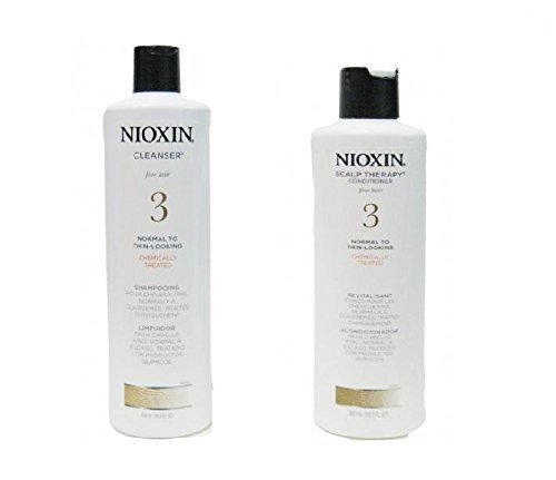 Nioxin Fragrances (System 3 Cleanser & Scalp Therapy Conditioner Duo Nioxin Shampoo & Conditioner Unisex 10.1 oz (Pack of 2))