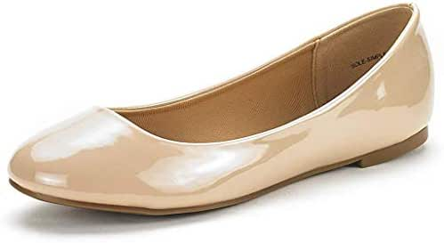 DREAM PAIRS Women's Sole-Simple Ballerina Walking Flats Shoes