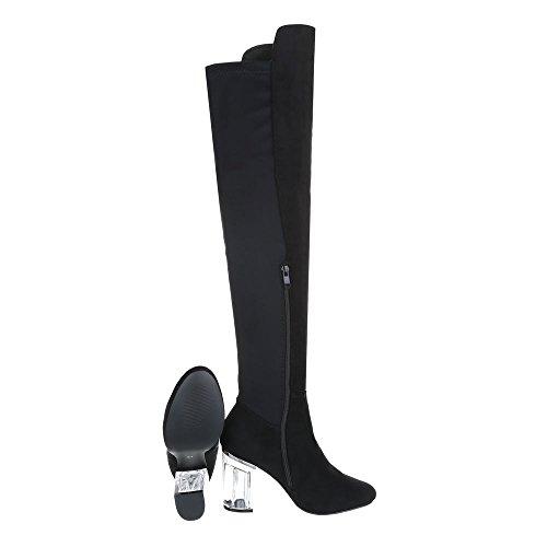 Mujer 2148 Mini nero Botas Botines tacón Design Zapatos tacón para Ital de OqgnP5
