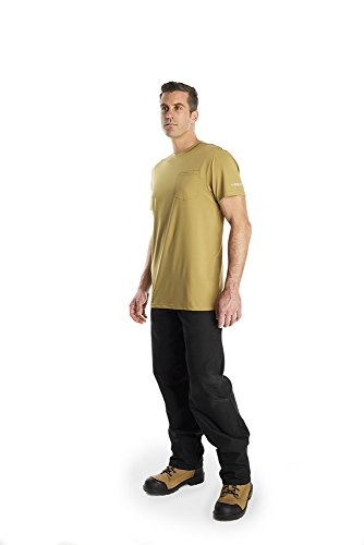 Arctic Cool Men's Pocket Workwear Instant Cooling Shirt with UPF 50+ Sun Protection, Khaki, XL by Arctic Cool (Image #2)