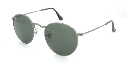 Ray Ban RB3447 Gunmetal/ Green 029 50mm Sunglasses (029 Rb3447 Metal Round)
