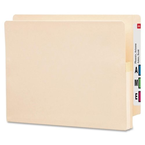 Wholesale CASE of 5 - Smead Recycled End Tab File Pockets-File Pockets, 1-3/4'' Exp, 12-3/8''x9-1/2'', Letter, 25/BX, MA