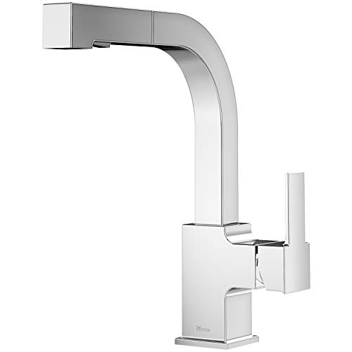 LG534-LPMC Arkitek Kitchen Faucet With Pull-Out Sprayhead, Polished Chrome