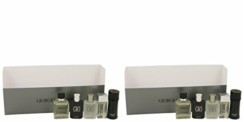 Gíorgio Armaní Gift Set - Travel Set Includes Armani Code, Emporio Armani Diamonds, Acqua Di Gio, Armani and Acqua Di Gio Profumo (PACKAGE OF 2)