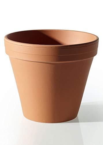 "Floral Home Ceramic Clay Pot in Terracotta - 8.75"" Tall x 10"" Wide - Set of 2"