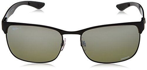 soleil Black polarisé Ray Greymirgrey 60 186 Matte Topn en demi de Ban noir lunettes Black mat jante chromance RB8319CH 5J Noir wavCqBxaY